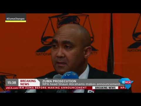 NPA's Shaun Abrahams decides to prosecute former President Zuma