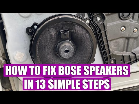 TUTORIAL: How to fix / repair Bose speakers (buzzing / rattle) Mazda 3, 6, CX-5, CX-3, MX-5, CX-7