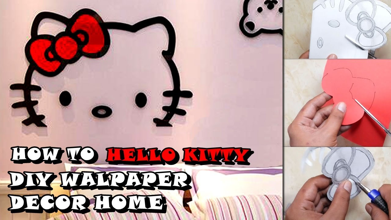 DIY Origami Wallpaper Hello Kitty Room Decoration For Your Room
