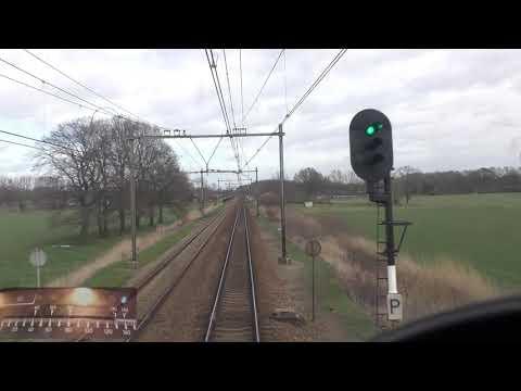 Meerijden met de machinist van 's-Hertogenbosch naar Arnhem Centraal. (met snelheidsmeter)