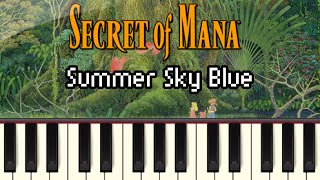Summer Sky Blue - Secret of Mana [Synthesia]