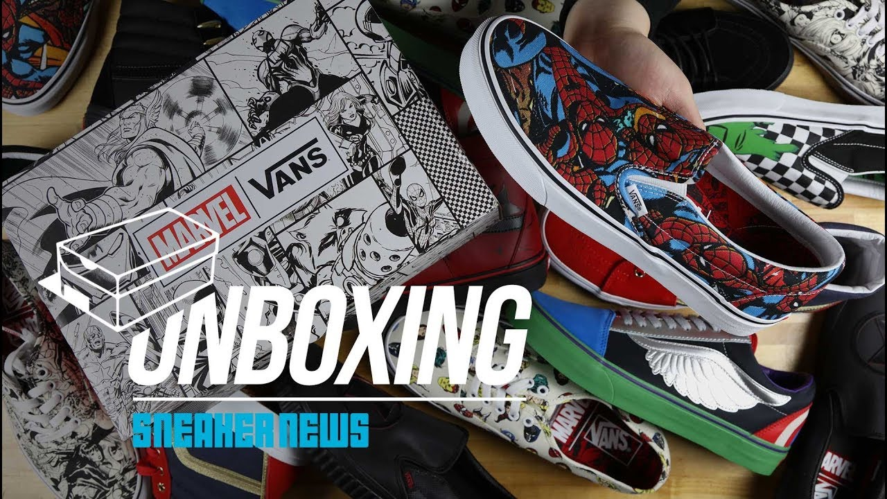 f3804fd679422a Vans Marvel Collection Unboxing + Review - YouTube