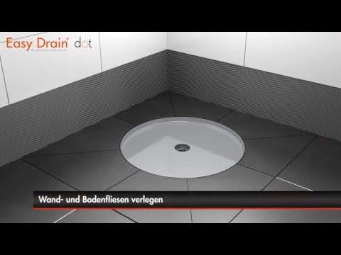 Einbau Einer Bodenablauf Easy Drain Dot Deutsch YouTube - Bodenablauf fliesen verlegen