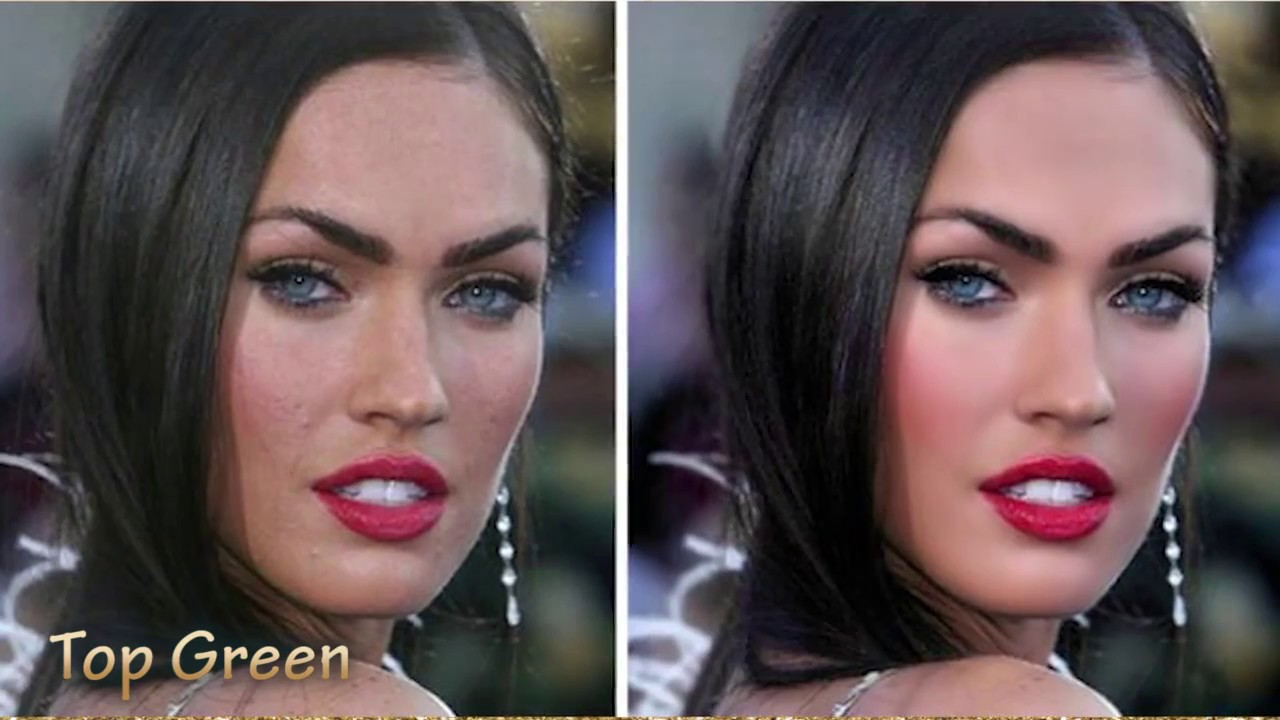 before and after hollywood s biggest stars photoshop usage youtube