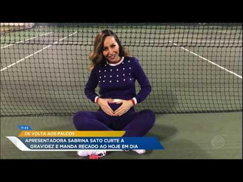 De Volta às Gravações Da Record TV, Sabrina Sato Fala Sobre A Gravidez