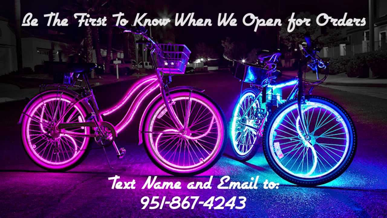 Coolest Glowing Beach Cruisers! Glow Candy Bike Lights ...