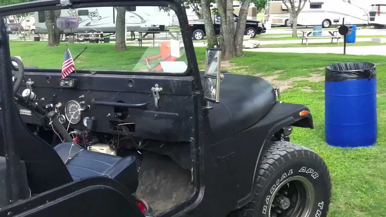 Classic Jeep Cj5 With Half A Jeep Bbq Grill Trailer