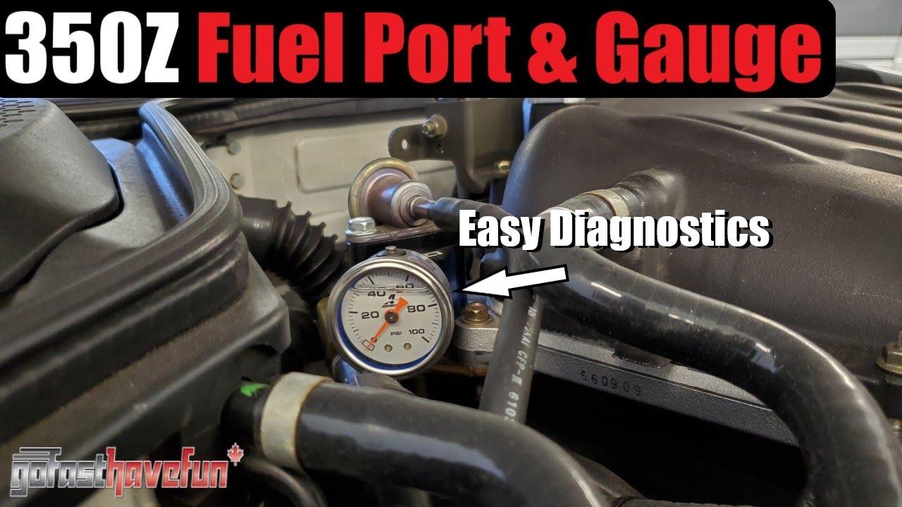 Nissan 350Z Z1 Motorsports VQ Fuel Port & Pressure Guage | AnthonyJ30
