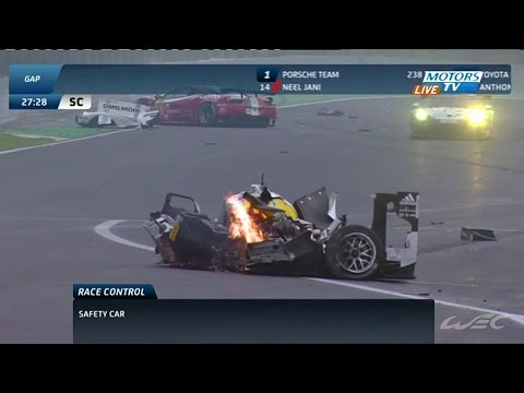 Mark Webber Matteo Cressoni Huge Crash 2014 WEC Season Finale in Sao Paulo