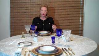 Dining Etiquette Manners Table Etiquette Part 1 by Expert Gloria Starr
