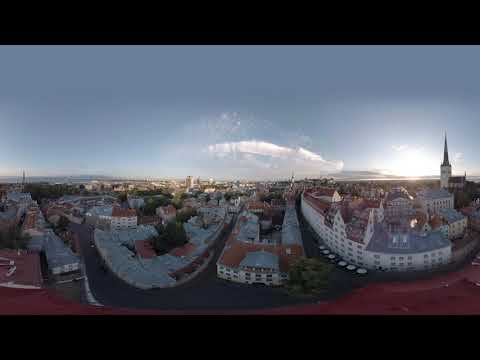 Tallinn, Estonia, Old Town - 360 VR drone video