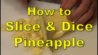 The quickest way to slice and dice a pineapple - Ny The Cook