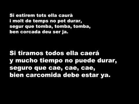 Lluis Llach   L'estaca Letra en Catalán y en Castellano