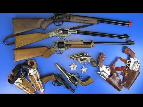 Cowboy Guns Toys ! Toys For Kids - Box Of Toys