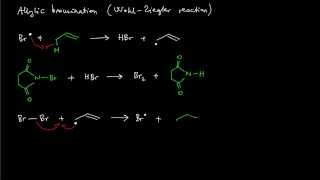 A14. Allylic bromination (Wohl-Ziegler reaction) with NBS (reaction mechanism)
