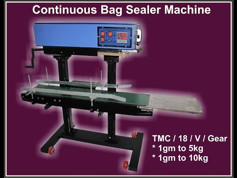 Continuous Bag Sealing Machine All Model Pouch Size System
