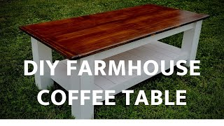 How to #Make a #CoffeeTable with FREE PLANS // #Woodworking // #DIY // #Rustic