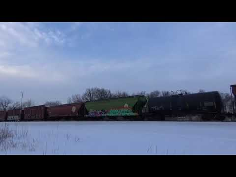 Railfanning - Norfolk Southern 9003 & 6338 - Chesterton, IN (2-15-18)