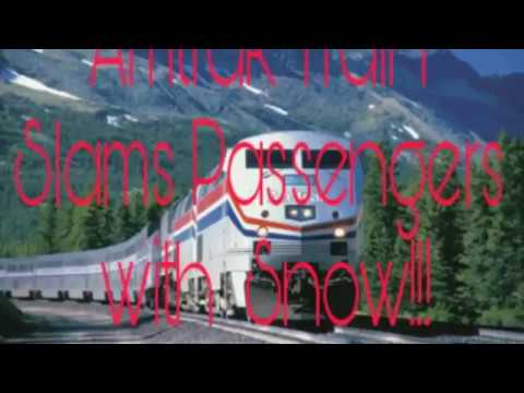 Thumbnail: OMG!!! Amtrak Snow-mo Collision Train Slams Passengers with Snow!!!