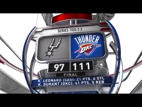 San Antonio Spurs vs Oklahoma City Thunder - May 8, 2016