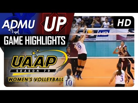 UAAP 79 Women's Volleyball: ADMU vs UP Game Highlights - March 11, 2017