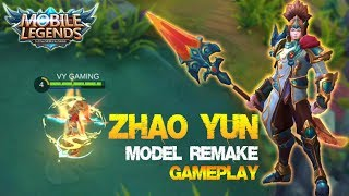 Mobile Legends - ZHAO YUN Son Of The Dragon Model Remake Gameplay [UPDATE 1.1.92]