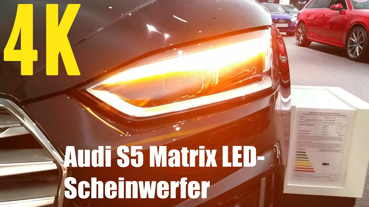 2017 audi s5 matrix led scheinwerfer dynamischer. Black Bedroom Furniture Sets. Home Design Ideas