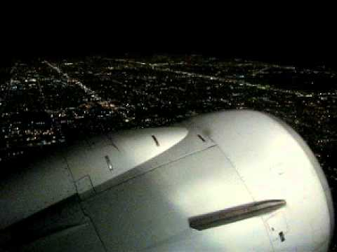 Airplane Take Off At Night From Miami Fl