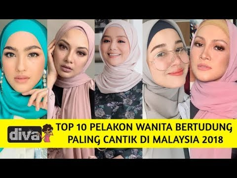 top 10 pelakon wanita bertudung paling cantik di malaysia