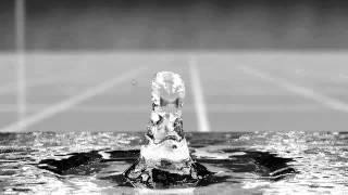 Ultra slow motion water drop (3D Blender)