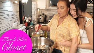 Thanh Ha's Sunday | Cùng con gái nấu Mì Quảng và 'tắm rửa' cho cây cối trong vườn