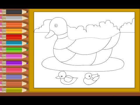 Duck Coloring Pages For Kids - Duck Coloring Pages - YouTube