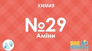 Онлайн-урок ЗНО. Химия №29. Амины.