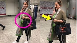 Pregnant Tennis player Sania Mirza flaunting her baby bump !