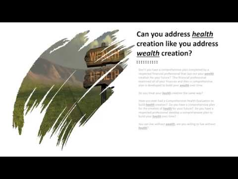 Health Creation vs. Wealth Creation