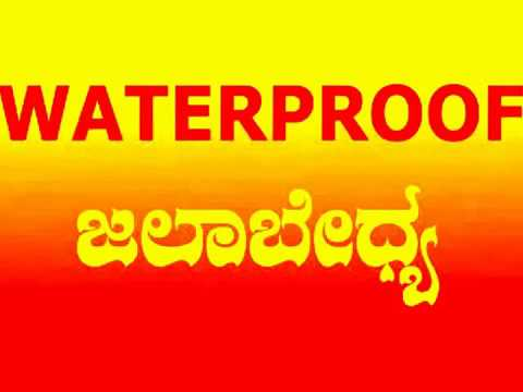 English word's Kannada meaning