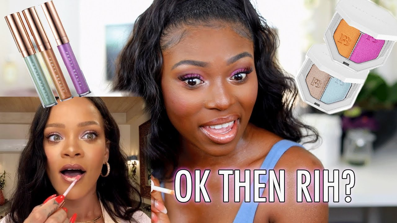 I LET RIHANNA SHOW ME HOW TO DO MY MAKEUP USING THE NEW FENTY BEACH PLEASE COLLECTION!