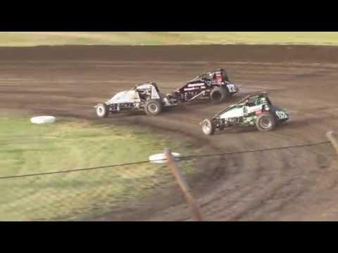 Gas City I-69 Speedway USAC Heat 7/08/2016