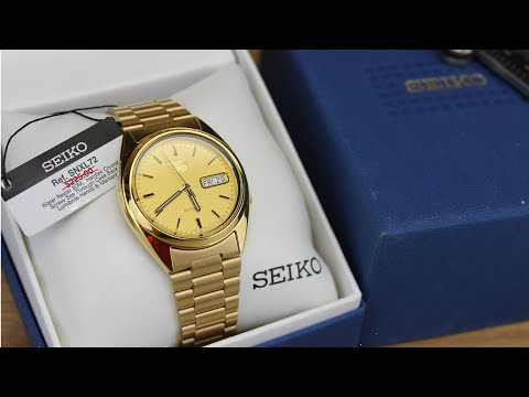 Seiko SNXL72 (Seiko 5 Gold) Unboxing & First Impressions | Is it a Dress Watch or Casual Watch?