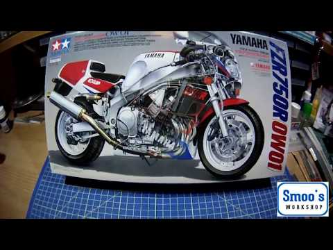 Tamiya's 1:12 scale 14058 Yamaha FZR750R (0W01) In Box Review