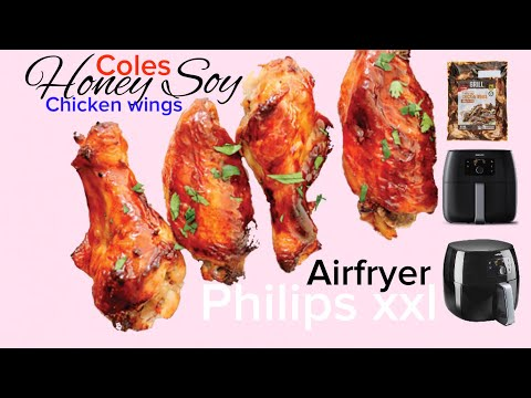 12 Honey Soy Chicken Wings in Philips AirFryer XXL Avance  Airfried grilled Coles 1kg chicken power