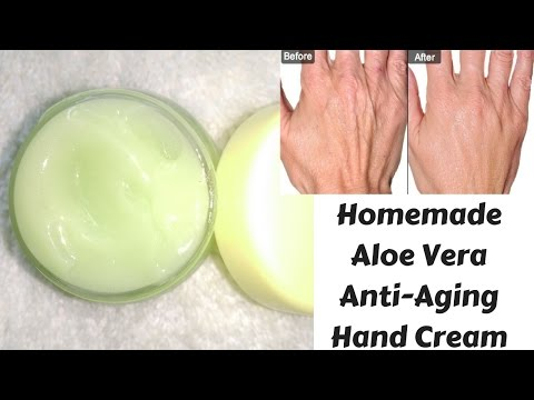 How To Make Aloe Vera Anti-Aging Hand Cream Easily At Home | Hand Cream For Rough And Dry Hands