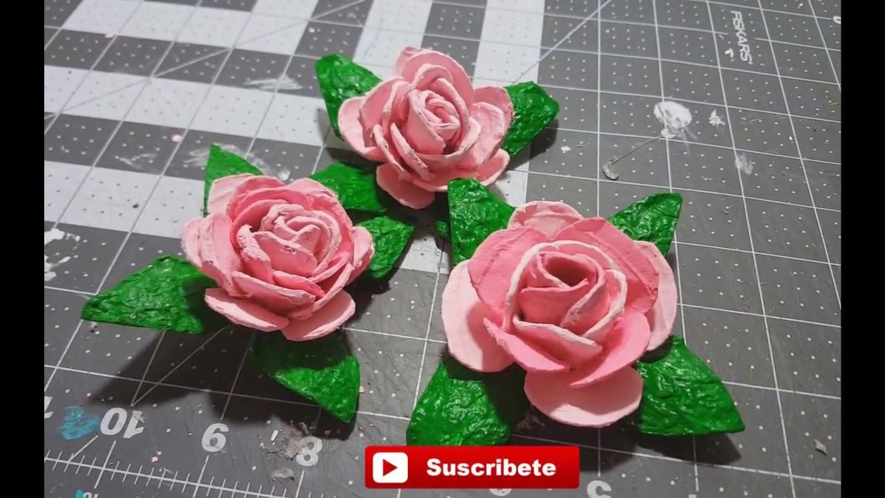 Como Hacer Rosas Con Carton De Huevo Audio Mejorado Youtube