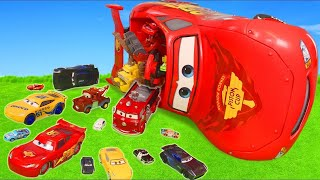Traktör, Arabalar çizgi film, Ekskavatör ve Yeni - Itfaiyeci oyuncak Disney Cars - Lightning McQueen