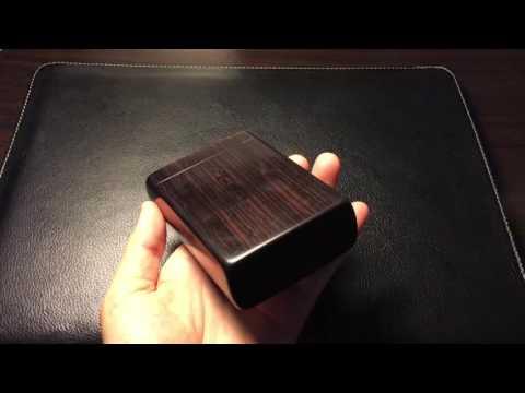 A premium custom Ebony wood cigarette case