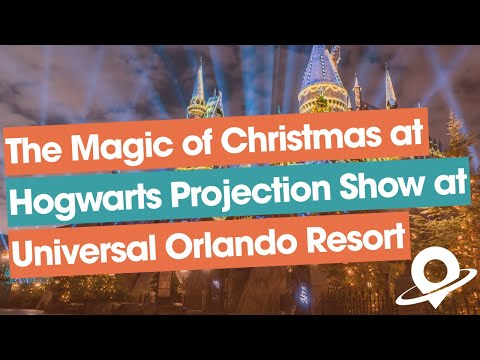 FULL The Magic of Christmas at Hogwarts Harry Potter nighttime projection show at Universal Orlando