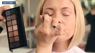 видео вечерний макияж для блондинок с карими