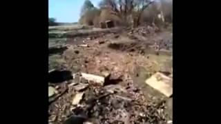Сенсация    Позиции ВСУ после обстрела из ГРАД   Position of the Ukrainian Army after the shelling o