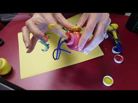 Making a Messy Masterpiece with String and Paint