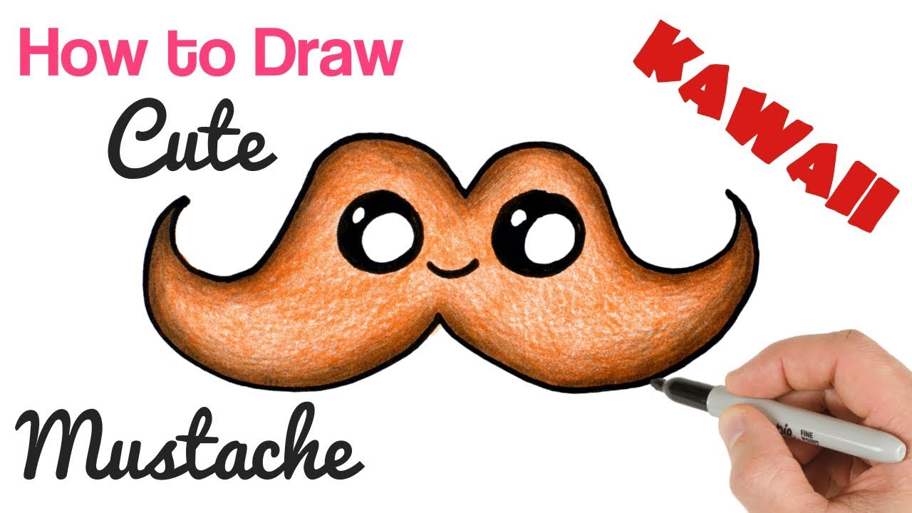 How to Draw a Mustache cute stuff and easy drawing for ...